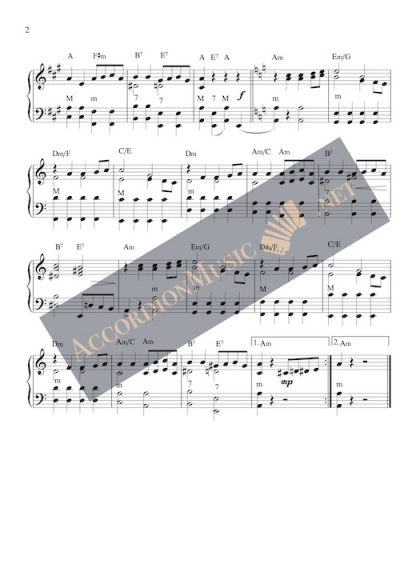 Por una Cabeza by Carlos Gardel - accordion sheet music, page 2