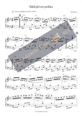 Säkkijärven polkka – Finnish polka – accordion sheet music