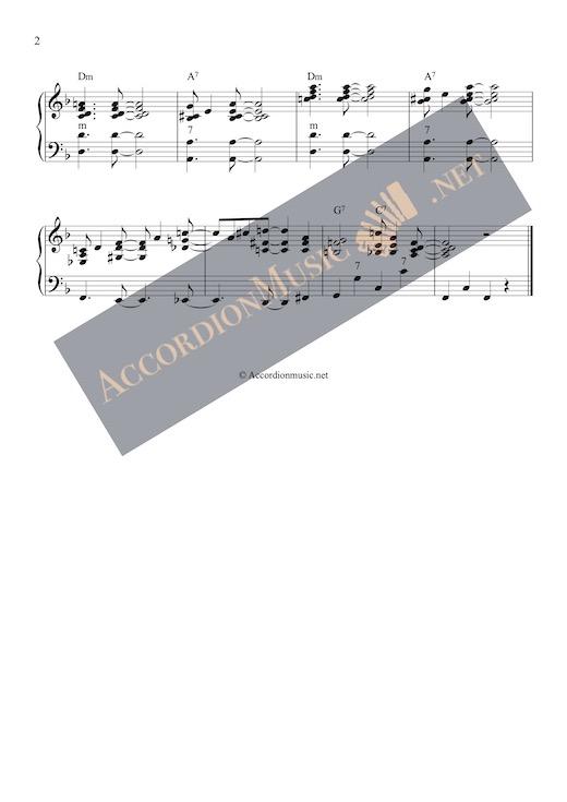 Sweet Georgia Brown - accordion notes, page 2