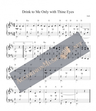 Drink to Me Only with Thine Eyes accordion score