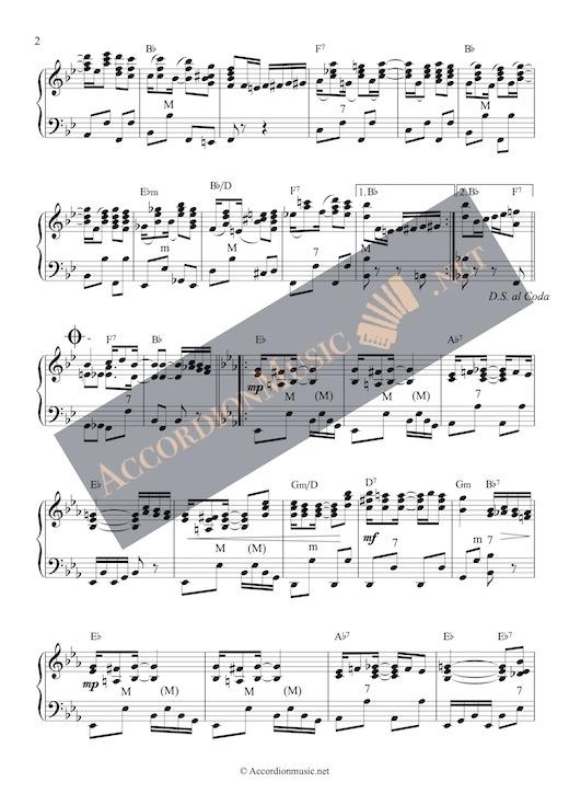 Pineapple Rag by Scott Joplin - accordion arrangement sheet music - page 2