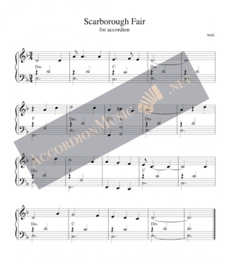 Scarborough Fair - sheet music for accordion